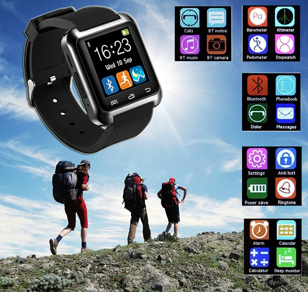 U8 Bluetooth Smart Watch with Pedometer Healthy Monitor