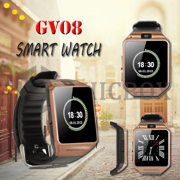 GV08 Bluetooth 3_0 Smart Watch with 0_3MP Camera_Pedometer Healthy Monitor