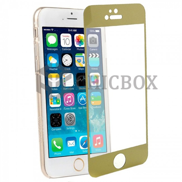 iPhone 6 Colored Tempered Glass Screen Protector_Gold