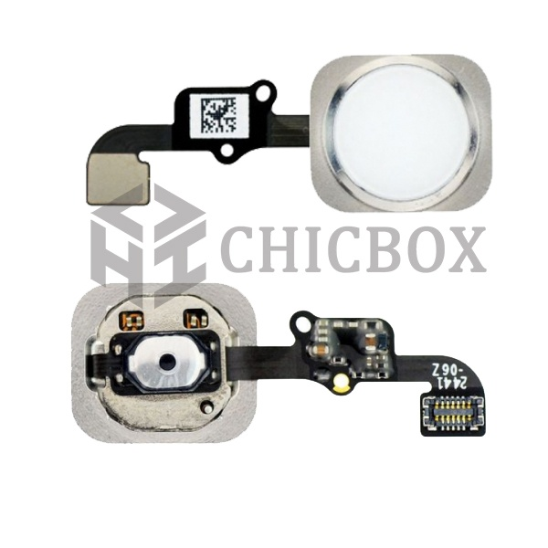 White Home Button with PCB Membrane Flex Cable Part for iPhone 6 and 6 Plus _OEM