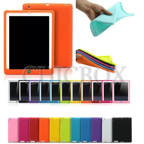 Colorful Silicone Case with Jelly Bean Home Button Protector
