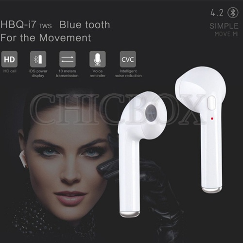 New  HBQ i7S TWS Twins Bluetooth Wireless Earbuds Earphone With Charger Box