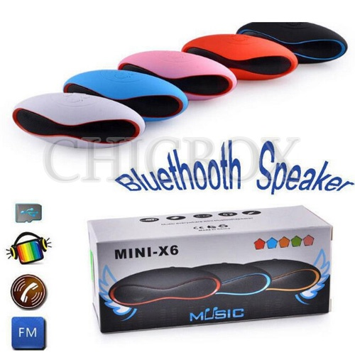 Bluetooth Wireless X6 Mini Portable Rugby Rechargeable Speaker