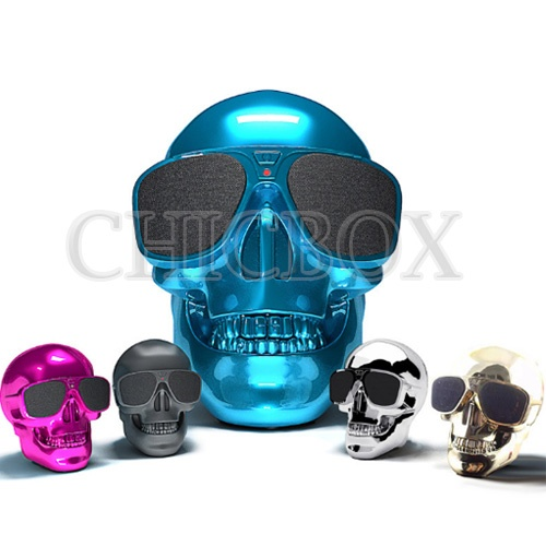 Cool Skull Head Sunglass NFC Function Bluetooth Wireless Mini Speaker Portable Super Bass Stereo HIF