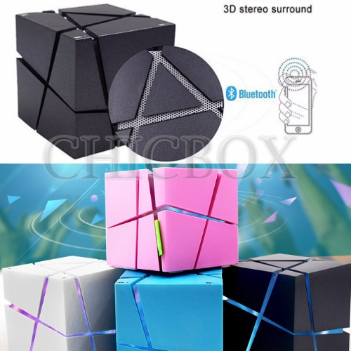 Q_ONE Magic Cube Colorful Wireless Bluetooth Speaker with Mic Handsfree