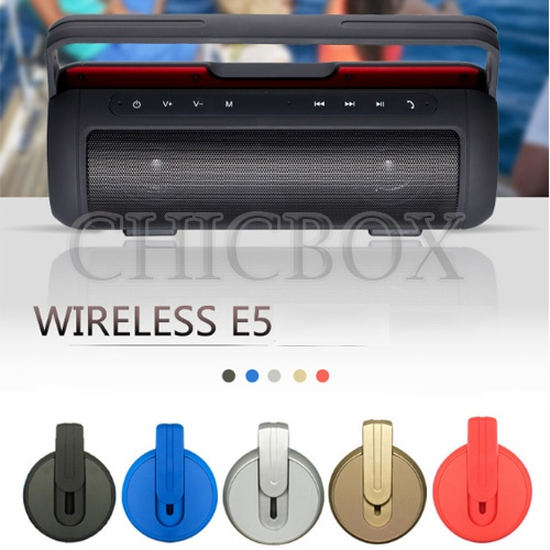 Wireless E5 Handsfree Call IPX4 Waterproof Portable Super Bass Bluetooth Speaker