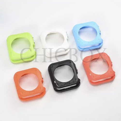 Apple Watch 38mm 42mm  Soft TPU Rubber Protect Bumper Case Cover_with retail package
