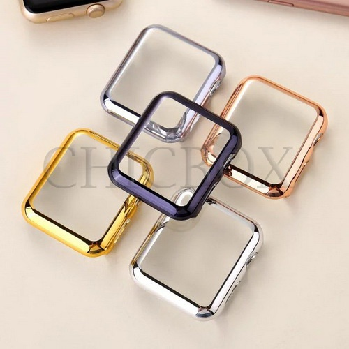 Thin Metal Plated PC Hard Protective Case Cover For Apple Watch 38_42mm_with retail package