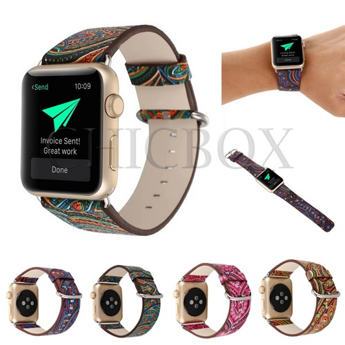 NEW Colorful Bohemia Leather Watch Strap Bands For iwatch_with retail package