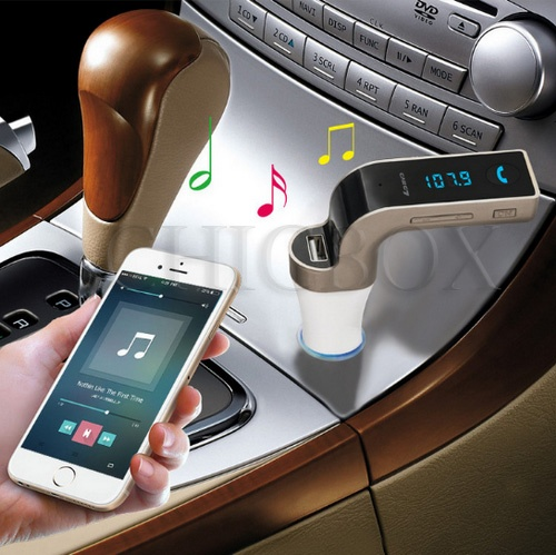 Handsfree FM Transmitter Radio MP3 Player USB Charger & AUX_ w_retail package
